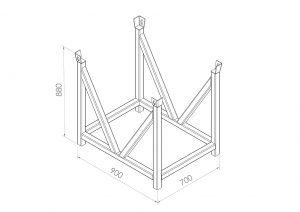 posts cradle assembly